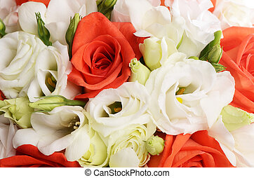 Bouquet of beautiful flowers a background