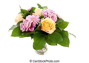 bouquet of beautiful flowers in vase