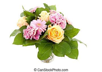 bouquet of beautiful flowers in vase