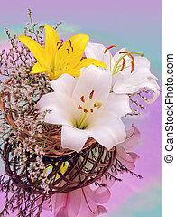 Bouquet of beautiful lilies