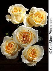 Bouquet of beautiful tea roses