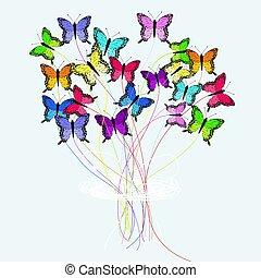 Bouquet of butterflies