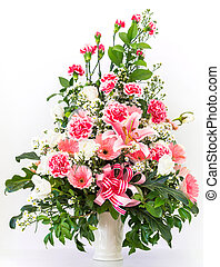 Bouquet of carnation lily and Gerbera