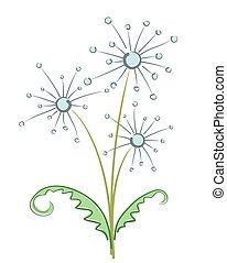 Bouquet of field dandelions.