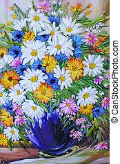 Bouquet of flowers applique fabric
