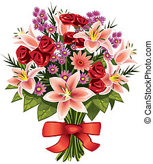 bouquet of flowers - bouquet of a variety of field and...