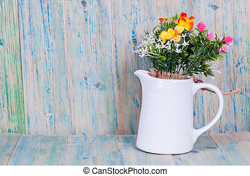 Bouquet of flowers in vase