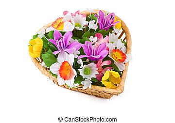 Bouquet of flowers, isolated on white