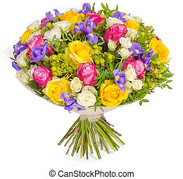 bouquet of flowers isolated on white background
