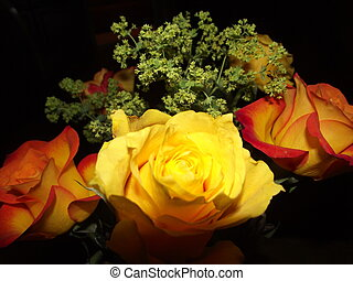 Bouquet of flowers of roses