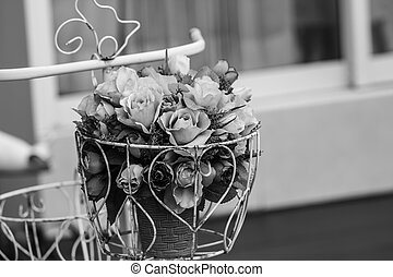 Bouquet of Flowers on a bike