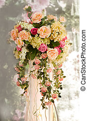 bouquet of flowers on a light background