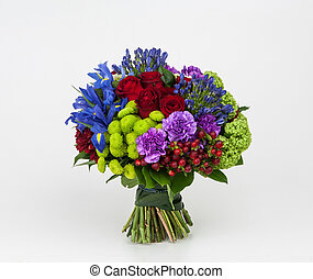 bouquet of flowers on a white background