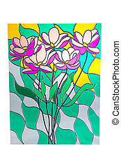 Bouquet of flowers - stained glass