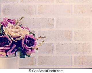 bouquet of flowers with copy space background