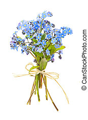 Bouquet of forget-me-nots - Bouquet of blue wild...