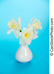 Bouquet of gentle, spring, white narcissuses