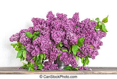 Bouquet of lilac blossoms. Spring flowers