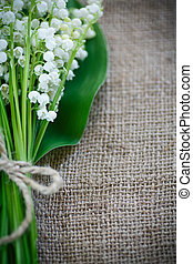 bouquet of lily of the valley flowering