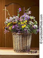 Bouquet of medicinal herbs