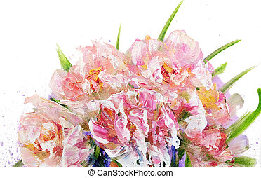 Bouquet of pink flowers