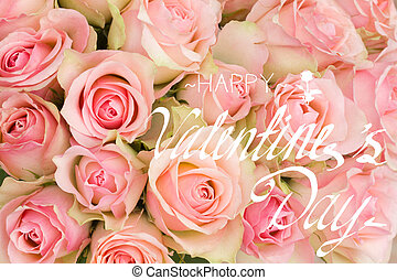 Bouquet Of Pink Roses With Happy Women Day Message