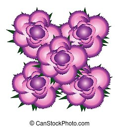 Bouquet of pink roses icon.