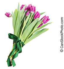 bouquet of purple tulip flowers
