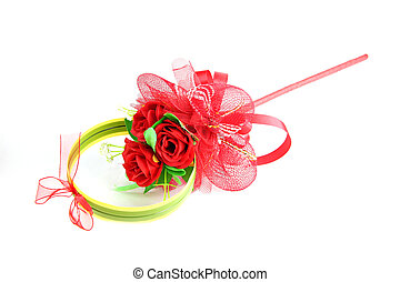 Bouquet of red rose isolated.