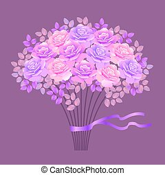 bouquet of rose vector illustration