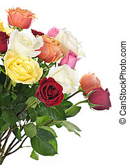 Bouquet of roses - Bouquet of assorted multicolored roses ...