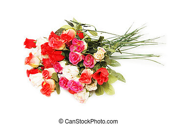 Bouquet of roses isolated on the white