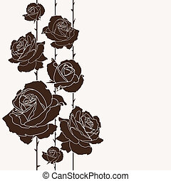 bouquet of roses, seamless background