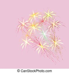 Bouquet of spring flowers on a pink background, vector illustration