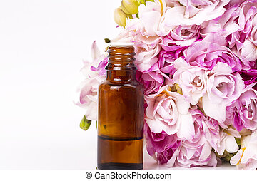 Bouquet of spring fresh freesia flowers herbal