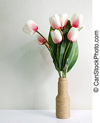 bouquet of tulips on a background