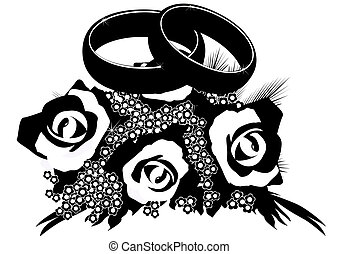 Bouquet of wedding rings