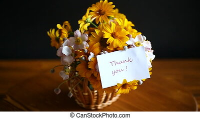bouquet of yellow big daisies isolated on a black background