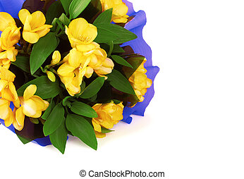 Bouquet of yellow fresia flower
