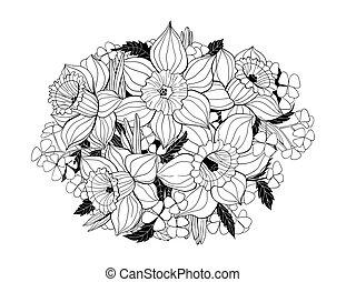 bouquet, påskeliljer