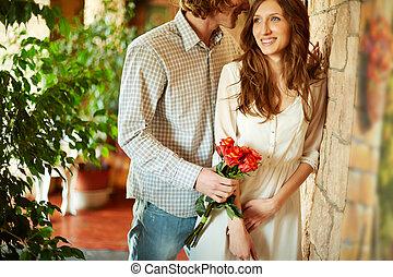 bouquet, petite amie