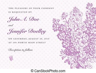bouquet, pourpre, vecteur, fond, lilas