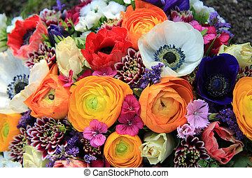 bouquet, printemps, couleurs claires
