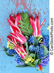 bouquet, printemps, mariage
