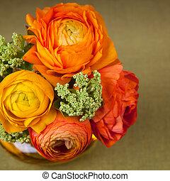 bouquet, ranunculus, fleur