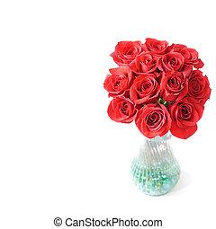 bouquet, roses, valentin