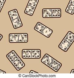 Bouquet seamless pattern. Dominoes tile games. Apparel print design scratch