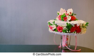 Bouquet - In a frame a wedding bouquet.