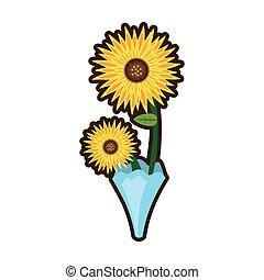 bouquet sunflower beuty image vector illustration eps 10