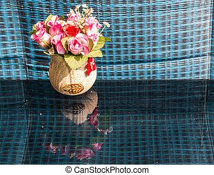 bouquet, vie, encore, fleur